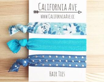 Blue Jean Baby Hair Tie Set of 3