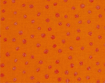Orange Fabric | All That Glitters Polka Dot Tangerine | sold by the Fat Quarter