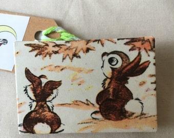 2 bunnies brooch