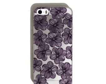 Blue Flower Soft iPhone 5s Case
