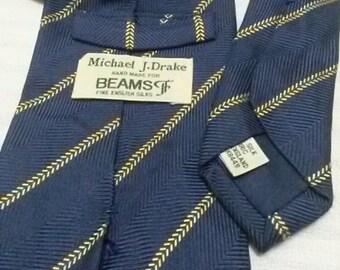 Vintage Beams By Micheal J Drake Tie 90s 80s