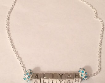 European Style Name/Word Charm Necklace