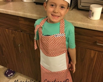 Boys Chef Hat and Matching Apron