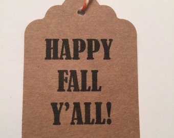 Set of 6 Kraft Thank you Fall Thanksgiving Gift Tags Favor Tags-Ships in 3-5 days!