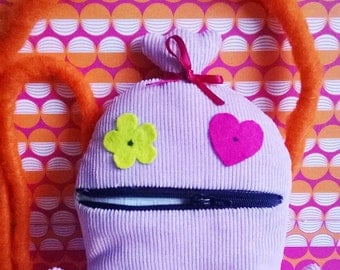 cuddly bag monster Rosi with zipper-mouth