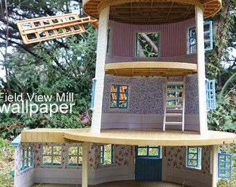 Custom Wallpaper for Sylvanian Families / Calico Critters FIELD VIEW MILL