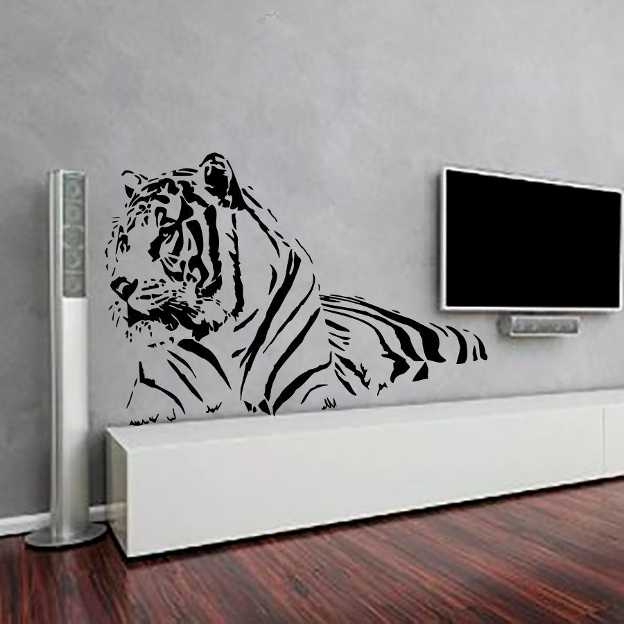 Tiger Wall Decals Decal Vinyl Sticker Nursery Bedroom by ...