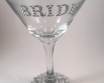 Martini bride glass