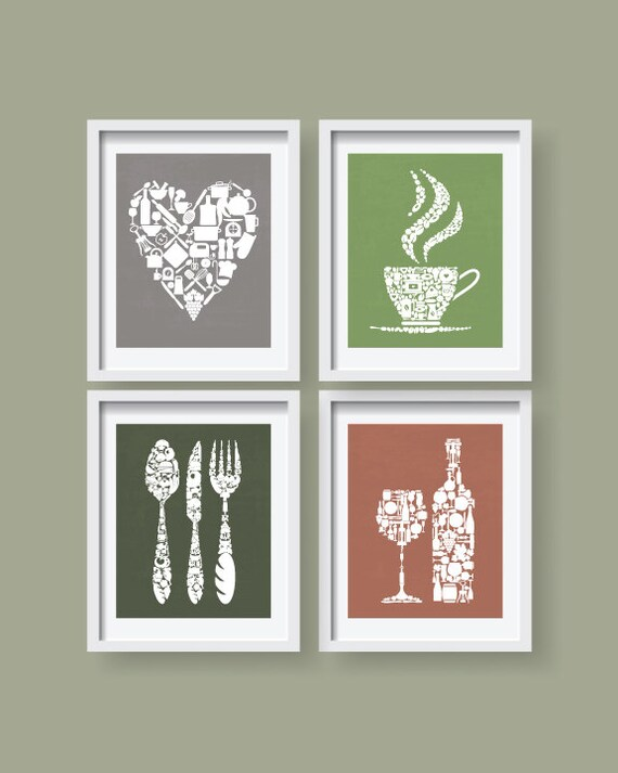 Colorful lovely kitchen decor kitchen wall art kitchen for Colorful kitchen wall art