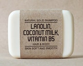 Shampoo bar, Lanolin mixed Coconut milk & Vitamin B5, Peppermint essential oil, Good moisturising for skin, Soft and smooth cleansing
