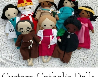 Custom Catholic Saint Fabric Doll, Custom Patron Saint Doll, Catholic Doll, Catholic Toy