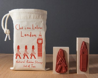 Rubber Stamp Set London  Big Ben and Queen's Guard