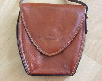 Vintage Etienne Aigner small crossbody bag genuine leather brown
