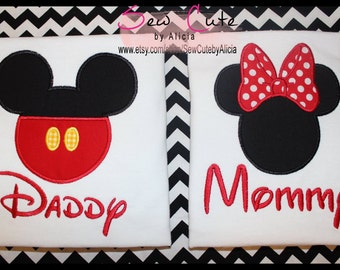 Mommy and Daddy Disney Shirts