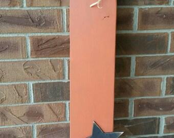 Pumpkin, Primitive Pumpkin / Star Front Porch Decor / Rustic Pumpkin, Fall Decor, Autumn Decor, Halloween, Fall Front Porch Decor,