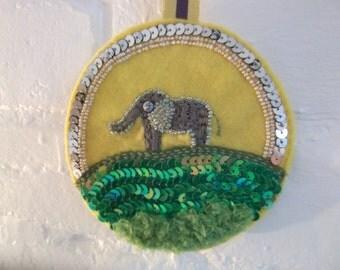 elephant decor - elephant door hanger - door knob hanger - elephant lovers - elephant - baby boy elephant nursery - elephant wall hanging