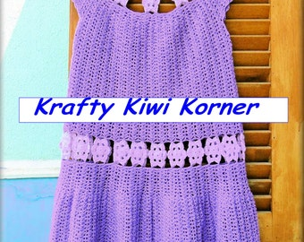 Crochet Dress with Floral Motifs inserts - Made to Order