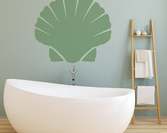 Wall Decals Stickers Clam Shell - 1 to 19 inches high. Wall Large Wall Art Vinyl Decals Vinyl Stickers. Easy Peel Decals