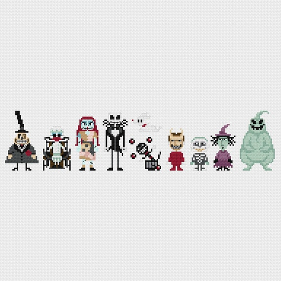 The Nightmare Before Christmas Cross Stitch Pattern PDF
