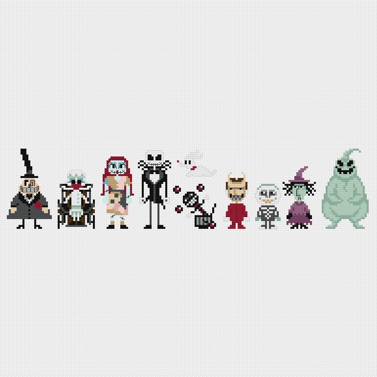 The Nightmare Before Christmas Cross Stitch Pattern Pdf