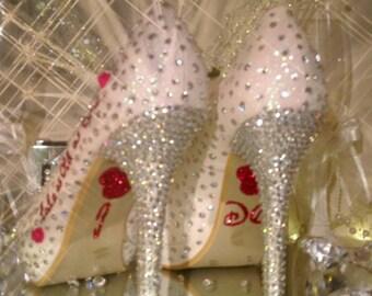 wedding crystal disney heels