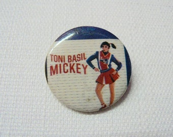 Vintage Early 80s Toni Basil - Mickey Single - Promotional Pin / Button / Badge - One Hit Wonders