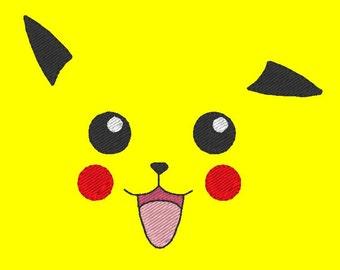 Pikachu minimalist (Embroidery Design)