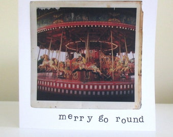 Vintage fairground photography greetings card