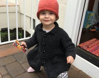 Leaf knitted hat 100% merino wool