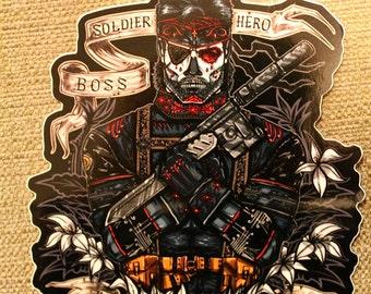 Day of the dead Patriot, Sticker.