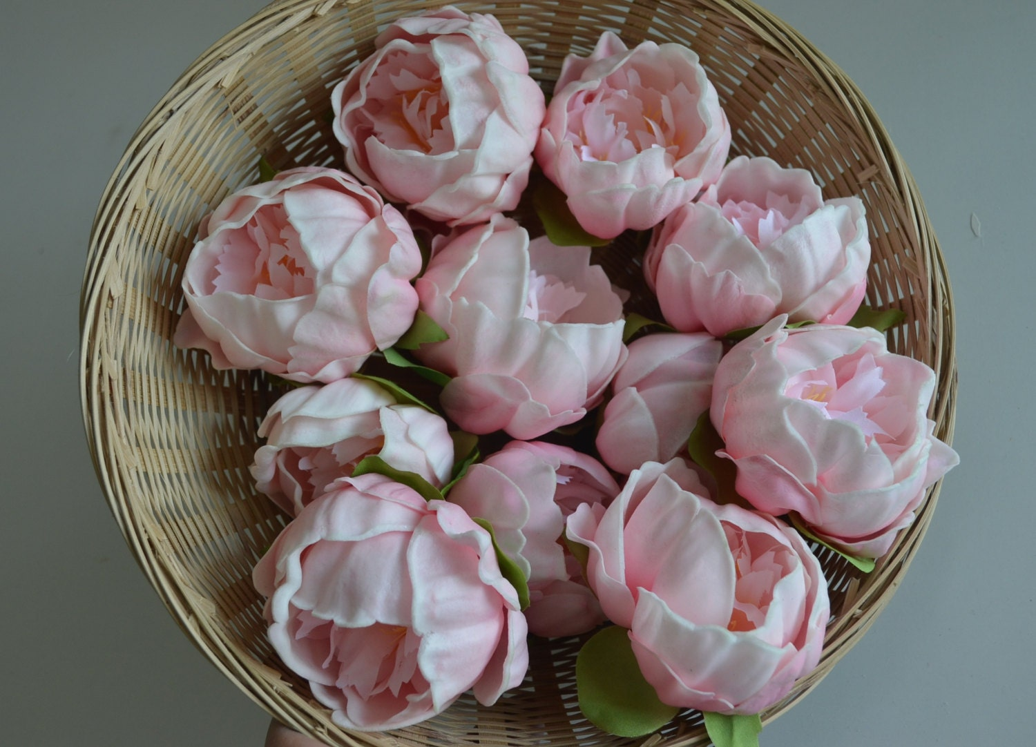 5 Colors Pink Peony Blooms Real Touch Flowers Peonies Cake