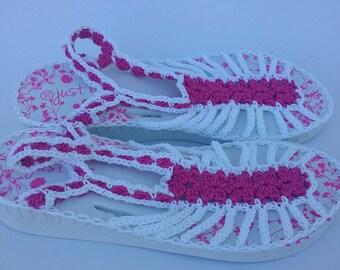 Petals N Lace Wedge Flip Flops