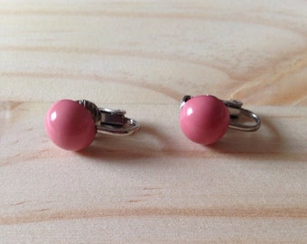 Clip on Earrings: Pink Clip on Earrings