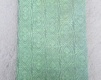 Green handmade blank Journal, 200 pages