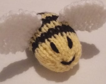 Hand Knitted Busy Bumble Bees Stuffed Toys/Novelties - Great for nurseries/schools or just your home!