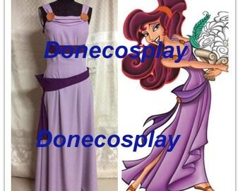 On sale--New Megara dress from Hercules cosplay costume Megara cosplay dress Halloween costume