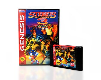 Streets of Rage 3 with Sonic (Sonic in Streets of Rage) for the Sega Genesis! - Genesis Retro Collectible - Mega Drive - Great Gamer gift!