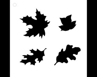Happy Fall Leaves Stencil - Select Size - STCL927 by StudioR12