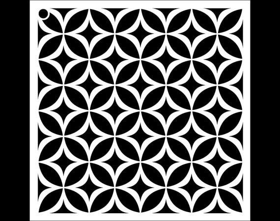 Circle Star Pattern Stencil Select Size STCL1022 By