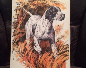 Fall Hunting - Artist Print w/Water Color