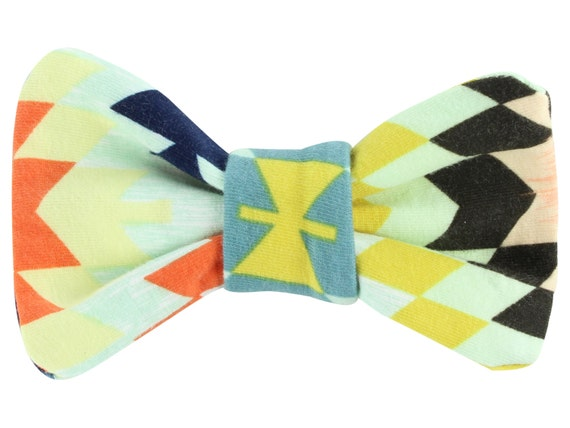 Colorful Tribal Baby Toddler Hair Bow Clip Aztec Tribal Hair Clip Bow Classic Hair Bow