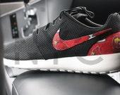 St. Louis Cardinals Nike Roshe Run Black Custom
