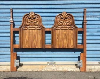 Gorgeous Ornate Vintage Full Size Headboard and Frame