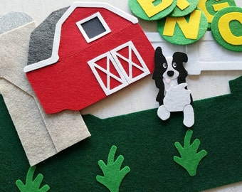 BINGO Felt Board Story Set / Nursery Rhyme Felt Board Set / Flannel Board Sets / Felt Board Pieces / Preschool / Speech Therapy