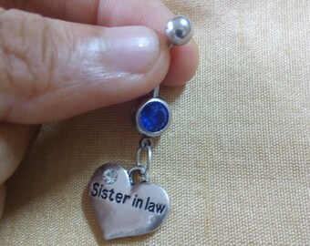 sister belly ring etsy