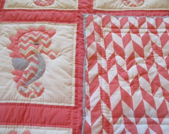 Seahorse Twin Size Quilt