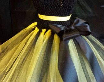 Bumblebee  Dress, Bumble Bee Costume, Bee Tutu Dress