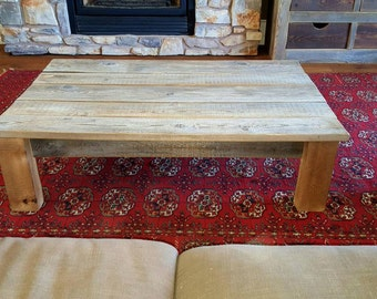 Coffee Table, Reclaimed Wood Coffee Table, Rustic Table, Weathered Table, Grey  Table
