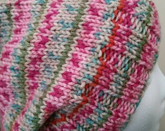 The Cassidy.....Slouchy Multicolored Knit Hat