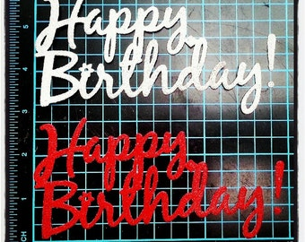 Happy Birthday (big) cut out. 1 pack of 5pcs. Perfect for your birthday decoration, scrapbooking, cardmaking, and many more!